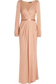 Crepe de chine gown