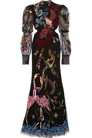 Alexander McQueen Embellished cutout tulle gown