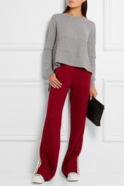 Alexander McQueen Asymmetric ribbed cashmere sweater