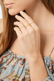 Carolina Bucci Set of two 18-karat gold rings