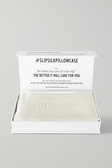SLIP Slipsilk&Trade; Pillowcase - King in White