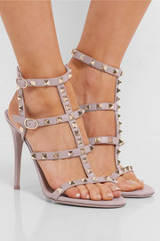 Rockstud embellished leather sandals