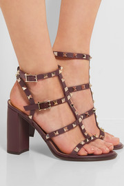 The Rockstud embellished leather sandals