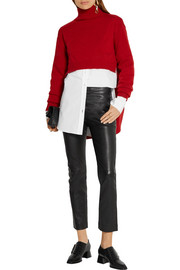 Joseph Finley cropped leather straight-leg pants