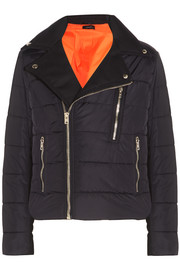 Joseph Darlington quilted twill-paneled shell jacket