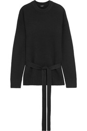 Belted cashmere sweater