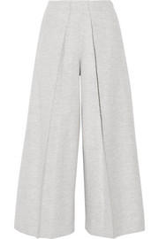 Nixie brushed wool-blend wide-leg pants