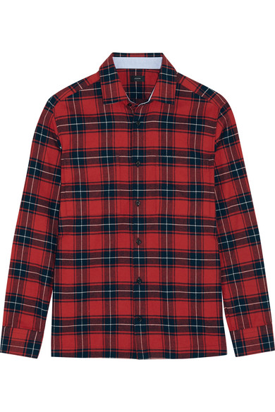 Joseph - Iconics Checked Cotton-flannel Shirt - Red