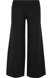 Cropped wool wide-leg pants