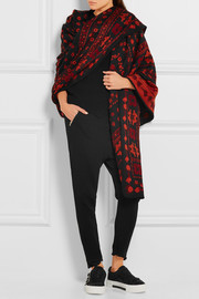 Alexander McQueen Wool and silk-blend floral-jacquard wrap