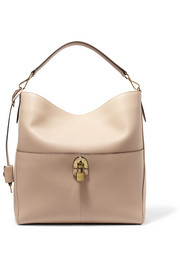 Archie textured-leather shoulder bag
