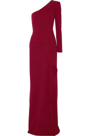 Roland Mouret Galaham one-shoulder stretch-crepe gown