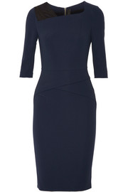 Roland Mouret Ingram lace-trimmed stretch-crepe dress