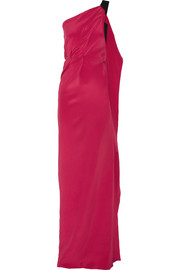 Roland Mouret Vere one-shoulder silk-crepe gown