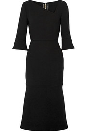 Roland Mouret Dagnall stretch-wool crepe midi dress
