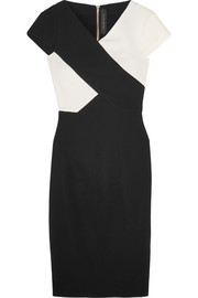 Roland Mouret Tourney two-tone stretch-crepe dress