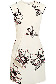 Roland Mouret Floral-print cloqué mini dress