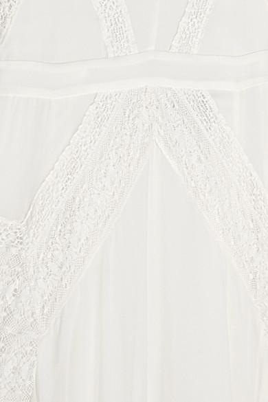 Spielraum Geniue Händler Needle & Thread Robe aus Seiden-Crêpe mit Spitzenbesatz Spielraum Angebote inxwbjfY