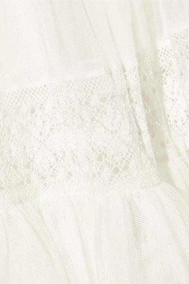 Needle & Thread Maxirock aus Tüll mit Spitzenbesatz für die Braut