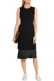 Vince Ribbed stretch wool-blend dress