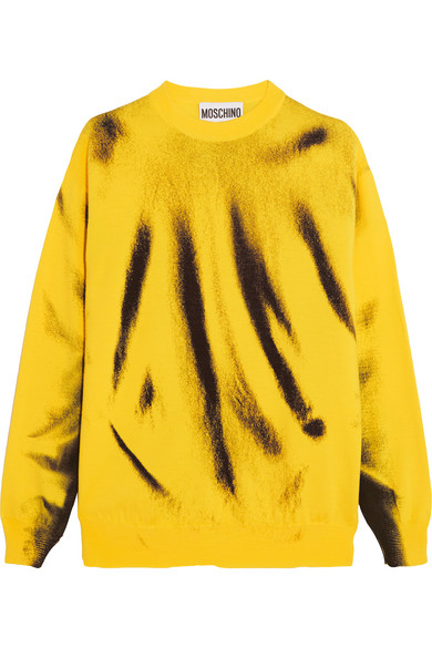 Moschino - Printed Wool Sweater - Yellow