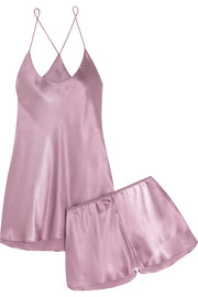 Bella silk-satin pajama set