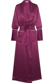 Capability polka-dot silk-satin robe
