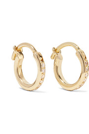 18-karat gold diamond hoop earrings