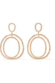 Ileana Makri Again Double 18-karat rose gold diamond earrings
