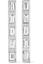 Ileana Makri 18-karat white gold diamond earrings