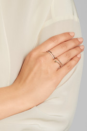 Ileana Makri Thread 18-karat rose gold multi-stone ring