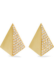 Ileana Makri Shadow 18-karat gold diamond earrings