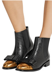 Marni Croc-effect leather Chelsea boots