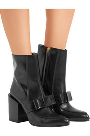 Marni Bow-embellished leather boots