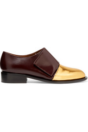 Marni Metallic-paneled leather brogues