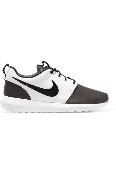 outlet store 79341 97d3a Nike. + Pedro Lourenço Roshe One coated mesh and patent-leather sneakers