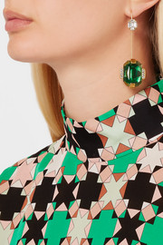 Marni Gold-plated crystal earrings