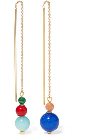 Isabel Marant Candy gold-plated multi-stone earrings