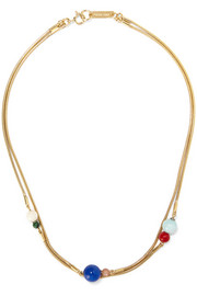 Isabel Marant Candy gold-plated multi-stone necklace
