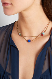 Candy gold-plated multi-stone necklace