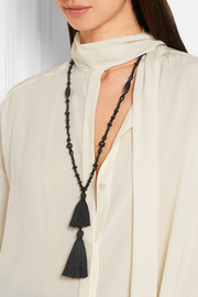 Isabel Marant Berbere tasseled horn and wood necklace