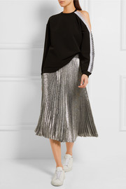 Christopher Kane Cutout crochet-trimmed stretch-crepe sweatshirt