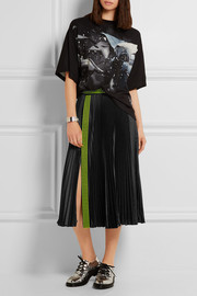 Christopher Kane Studded pleated satin skirt