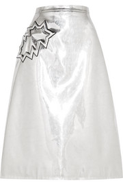 Christopher Kane Metallic PVC midi skirt
