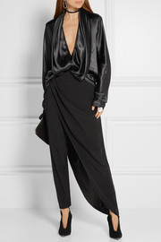 Haider Ackermann Draped silk-satin blouse