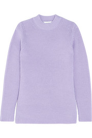 Carven Split-side ribbed wool sweater