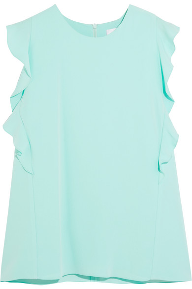 Carven - Ruffled Crepe Top - Mint