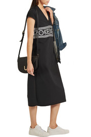 KENZO Printed cotton-jersey midi dress