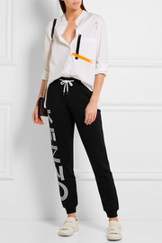 KENZO Printed cotton-terry track pants