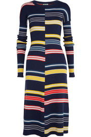 KENZO Striped ribbed wool dress